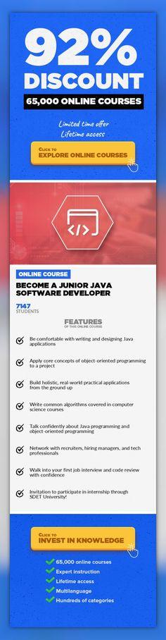 Become A Junior Java Software Developer Programming Languages, Development  #onlinecourses #onlinelearningideas #onlinemastersschools