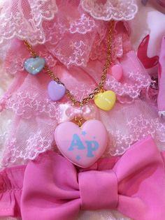 New Dream Hearts Macaron Necklace! #sweetlolitafashion