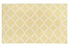 Athena Flat-Weave Rug, Tarragon on OneKingsLane.com.  This would really brighten up my dining room.