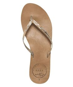 Love this Tan Snake Leather Uptown Luxe Flip-Flop - Women on. See the full  line of Reef sandals ...