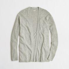 Factory warmspun cardigan sweater with ribbed sleeves : cardigan   J.Crew Factory