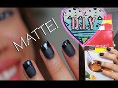 DIY matte nails - #how to do #nail-polish #matte