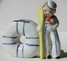Vintage Couple of the Ceramic Toothbrush Holders Clearance