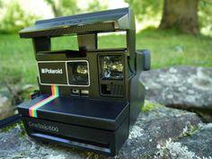 Vintage Polaroid Onestep 600 Rainbow Stripe Camera