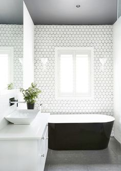 136 Best White Bathroom Tile Images In