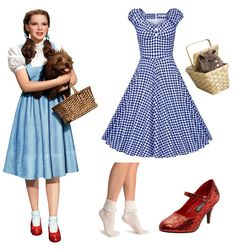 Wizard of OZ – Dorothy Costume for Adults (with clothes from your closet) - Top-Trends Wizard Of Oz Costumes Diy, Wizard Of Oz Dorothy Costume, Dorothy Halloween Costume, Cool Halloween Costumes, Halloween Outfits, Girl Costumes, Adult Costumes, Costumes For Women, Costume Ideas
