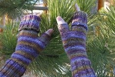 Ravelry: Cozy Cuffed Mitts pattern by Karen Everitt