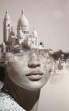 """"""" Je ne suis pas parisienne, ça me gêne, ça me gêne..."""" ( Marie-Paule Belle ) / Photo-montage. / By Antonio Mora."""