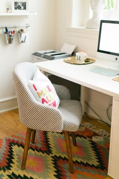light filled home office full of color bedroomcute eames office chair chairs vintage