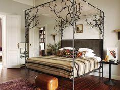 Himmelbetten aus Holz im Schlafzimmer gestell metall matratze
