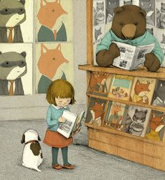 Stephanie Graegin: Illustration.   Think this is my favourite of her illustrations, put could have pinned a few!