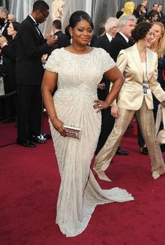 Image result for evening gowns for apple shaped body