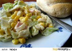 Salat z pekingskeho zeli Baked Potato, Potato Salad, Salads, Potatoes, Chicken, Baking, Dinner, Vegetables, Ethnic Recipes