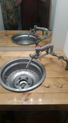 Wheel sink for future dream garage/hair setup.