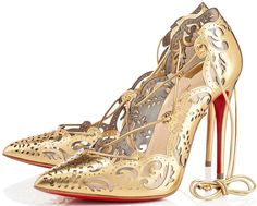 "Celebrities Love the Christian Louboutin ""Impera"" Lace-Up Pumps"