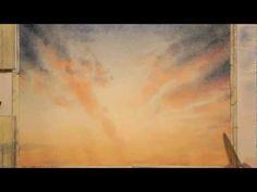 ▶ Miami sky watercolor, 6th day - YouTube