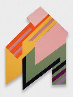 """peinture géométrique abstraite US : Frank Stella, """"Brzozdowce I"""", 1973, formes géométriques"""