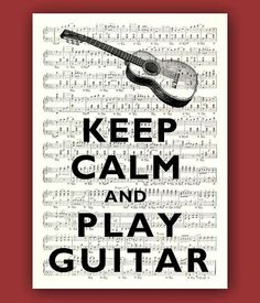Keep calm and play guitar by DigiMarthe