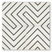 Cle tile cement tile, zenith design. Creates a mesmerizing, maze-like pattern.
