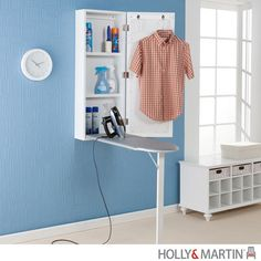 Holly & Martin Clara White Wall Mount Ironing Center