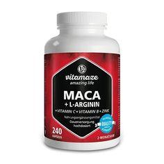 MACA ROOT 4: 1 high dose + L-arginine capsules 240 pcs UK Vitamin B12, Superfood, Maca Root Capsules, Maca Pulver, Maca Extract, Beef Gelatin, Vitamin Complex, Libido, Shopping