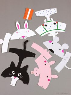 Dedoches animais para imprimir                                                                                                                                                      Mais