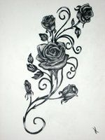 Rose And Vines Tattoos | deviantART: More Like tattoo rose by ~resonanteye