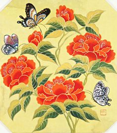 They are far from the sadness, hatred and revenge. Discussion on LiveInternet - Russian Service Online diary Korean Painting, Chinese Painting, Butterfly Art, Flower Art, Butterflies, Chinese Artwork, Geisha Art, Africa Art, Abstract Line Art