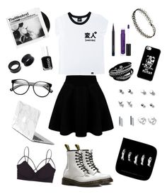 """Untitled #25"" by xxalexa ❤ liked on Polyvore featuring Dr. Martens, Illustrated People, Essie, NOVICA, ZeroUV, American Eagle Outfitters, MAC Cosmetics, Humble Chic and Anastasia Beverly Hills"