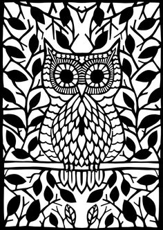 The wise Owl Paper Cut