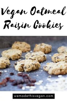 These vegan oatmeal raisin cookies are deliciously sweet and chewy and make the perfect afternoon pick me up snack.