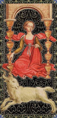 Ten of Cups - Golden Tarot of Renaissance par Giordano Berti & Jo Dworkin