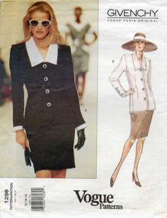 Vogue Pattern 1298 Givenchy Paris Top Skirt Size 12 14 16 Uncut Sewing Pattern | eBay