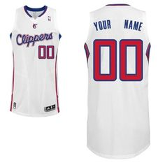 Adidas Los Angeles Clippers Custom Authentic Home Jersey
