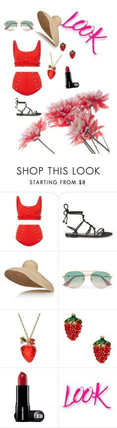 """""""strawberry summers"""" by bishpleaseimaprincess on Polyvore featuring Lisa Marie Fernandez, Rebecca Minkoff, Lola, Gucci, Betsey Johnson and NYX"""