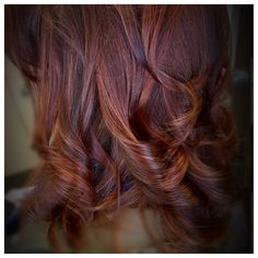 Old Balayage- glazed over with shades eq redken gloss..# red
