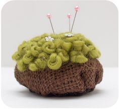 green moss pincushion $18
