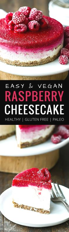 Best, no bake, easy, vegan raspberry cheesecake! This cheesecake is completely refined sugar free, paleo, raw and absolutely delicious! The fresh raspberry topping really takes it over the edge. That…MoreMore