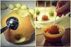 Mini Carmel apples for kids