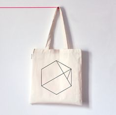 Hexagon / Screenprinted cotton organic tote bag by oelwein on Etsy, €14.00