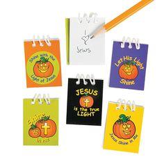 Christian Pumpkin Mini Notepads - OrientalTrading.com
