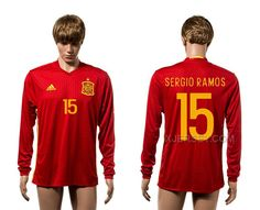 http://www.xjersey.com/spain-15-sergio-ramos-home-long-sleeve-euro-2016-thailand-jersey.html SPAIN 15 SERGIO RAMOS HOME LONG SLEEVE EURO 2016 THAILAND JERSEY Only $35.00 , Free Shipping!