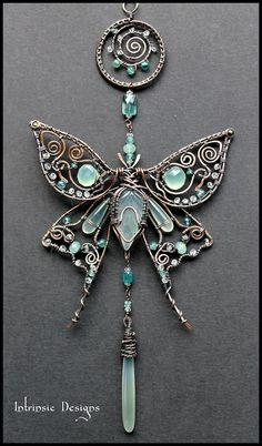 Stunning butterfly pendant in wire ~ WoW! From Intrinsic Designs.