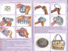 Nina Ateliê: PAP de bolsas de garrafa pet e crochê