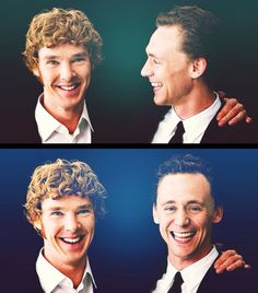 Too much goodness going on in this picture: Benedict Cumberbatch & Tom Hiddleston