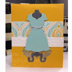 Stampin' Up! Funky Dress Form Trash to Treasure Card