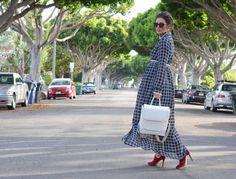 Jovannista Gino Maxi Dress in Grid Print-4