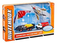Matchbox Sky Busters Mission Force Experimental Flight Pack by Mattel. Save 8 Off!. $10.07. The ultimate Matchbox pack in the most iconic themes. Help these mission forces complete their task. A great gift that any boy will love. Highly detailed die-cast parts with imaginative decorations. Boys will love the excitement and adventure of these vehicles. From the Manufacturer                Matchbox Sky Busters Mission Force Collection: The ultimate pack of Matchbox die-cast vehicles fo...