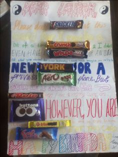 UK chocolate bar card, really good cheap DIY present!