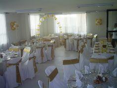 decoracion primera comunion dorado